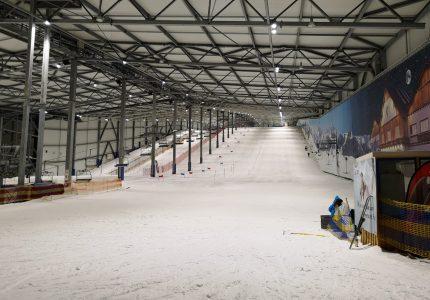 Sommer-Renntraining in der Skihalle Wittenburg