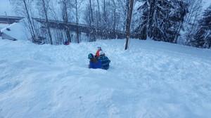 Weg zum Skifahren