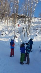 Weg zum Skifahren3
