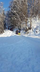 Weg zum Skifahren4